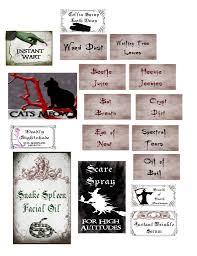 halloween apothecary jar labels papercraft apothecary jar labels tags u0026 ideas archive