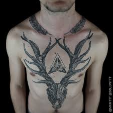 45 deer skull tattoos pictures with meanings