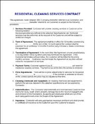 House Cleaning Resume Examples by House Cleaning Sample House Cleaning Contract Sample Janitorial