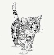 tabby cat coloring pages zentangle coloring pages cat zendoodle pinterest zentangle