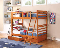 Kids Room Furniture Wood Bunk Beds For Kids From Aok Wooden Materials And Creamy