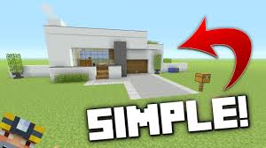 How To Build A Small House Minecraft How To Build A Small Modern House Tutorial Youtube