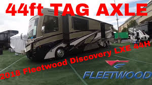 2018 fleetwood discovery lxe 44h first look new floor plan tag