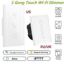 alexa light switch dimmer touch control 400w wifi smart light dimmer switch for dimmable light