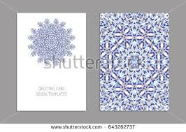 Brochures And Business Cards Templates Greeting Business Cards Brochures Covers Stock Vector