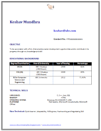 Resume Format For Freshers Mechanical Engineers Free Download Resume Template Of A Computer Science Engineer Fresher With Great