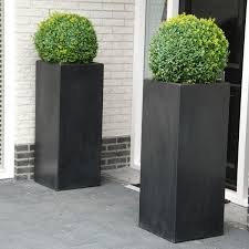 planters extraordinary black tall planter tall square planter