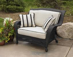 Wicker Patio Furniture Cushions - outdoor wicker chair in ebony with ivory cushions discontinued