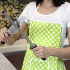 How To Sharpen Serrated Kitchen Knives How To Sharpen A Kitchen Knife With Sharpening Rod Kitchen Cabinets
