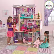 girls dollhouse bed kidkraft 18 in elegant manor dollhouse 65830 hayneedle