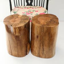 How To Make A Tree Stump End Table by Furniture Angelic Home Furniture Ideas Using Cylinder White Tree