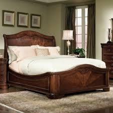 Brown Wood Bed Frame Low Profile Wood Bed Frame Foter