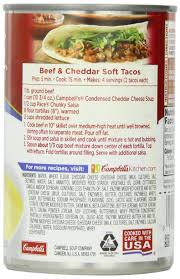 Campbell Kitchen Recipe Ideas amazon com campbell u0027s condensed soup cheddar cheese 10 75
