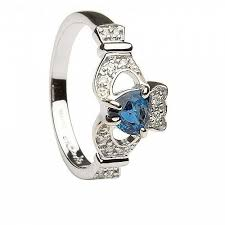claddagh engagement ring claddagh sapphire and diamond engagement ring