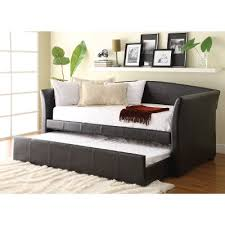 dark brown upholstered day bed with trundle ryan rc willey