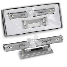 wedding certificate holder engraved birth certificate holder teddy design engraved birth