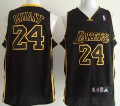 los angeles lakers 24 kobe bryant all black with yellow swingman