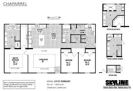 Skyline Manufactured Homes Floor Plans Chaparrel 5737 Shelby By Skyline Homes