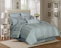 light blue and grey bedding decorate my house