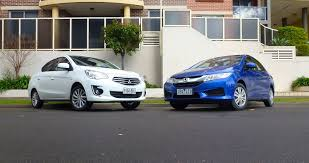 city v mitsubishi mirage sedan comparison review