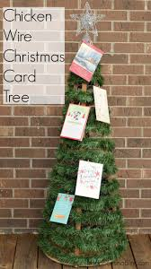 chicken wire christmas card tree