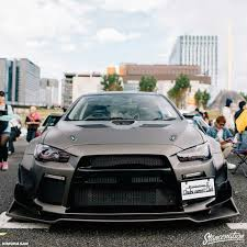 mitsubishi evo slammed evo x with sick wide body cars pinterest evo sick and bodies