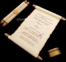 Scroll Invitations Diy Diy Scroll Wedding Invitations Wedding Invitations