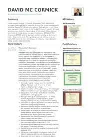 professional resumes exles production manager resume sles visualcv resume sles database