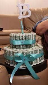 a money cake for a bridal shower will have the bride to be smiling