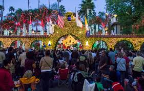 The Mission Inn Festival Of Lights The Mission Inn Provides Downtown Riverside With The Holiday