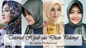 tutorial pashmina dian pelangi tutorial hijab ala dian pelangi seftin prahaswati youtube