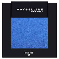 royal blue maybelline color show mono eyeshadow 105 royal blue superdrug