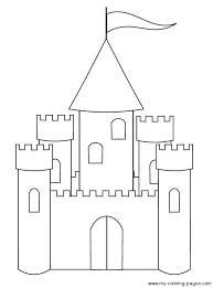 disney castle coloring page free download