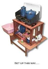 Camp Kitchen Box Plans by G1 Chuckbox Setup With Camp Stove I Want One What A Great Idea