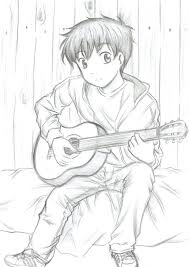 pictures cute couples sketches with guitar hd images drawing