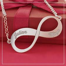 infinity necklace with name silver infinity engraved necklace with name online kaya jewellery uk