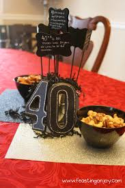 Birthday Party Decorations Ideas At Home A Christian Themed Manly Surprise 40th Birthday Party With Free
