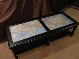Map Coffee Table Coffee Table Makeover With Antique Maps Hometalk