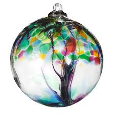 recycled glass tree globes relationships blown glass globe