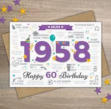 60 year birthday card 60th birthday card ebay