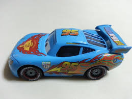 car toy blue mattel disney pixar cars blue lightning mcqueen diecast 1 55 toy