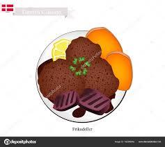 cuisine danemark frikadeller ou galette de boeuf frites plat populaire au danemark