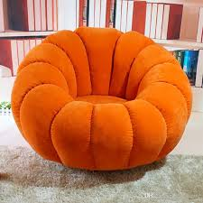 Red Leather Bean Bag Chair 2017 Pumpkin Beanbag Single Washable Fabric Rotary Computer Chair