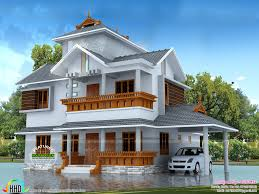 2010 sq ft 4 bedroom modern sloping roof house kerala home