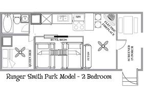 Park Model Home Floor Plans by Ranger Smith Park Model 2 Bedroom Yogi Bear U0027s Jellystone Park