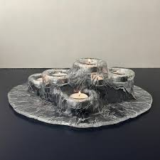 vintage meri lasi volcano tea light holder 6 finland art