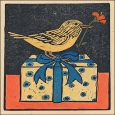 bottman cards bottman design gift enclosure card bird on a box the smells