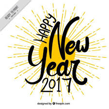 And New Year Holidays In The Sun New Year 2017 Background Of Sun Free Vector X