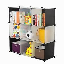 amazon com c u0026ahome 9 cube storage organizer diy bookcase shelf