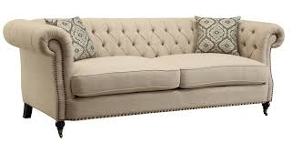 coaster trivellato traditional button tufted sofa with large